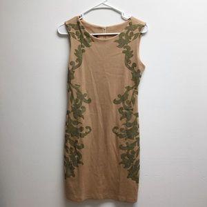 Medium Zara tan dress with design body con